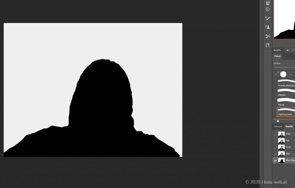 Portrait schwarz Silhouette