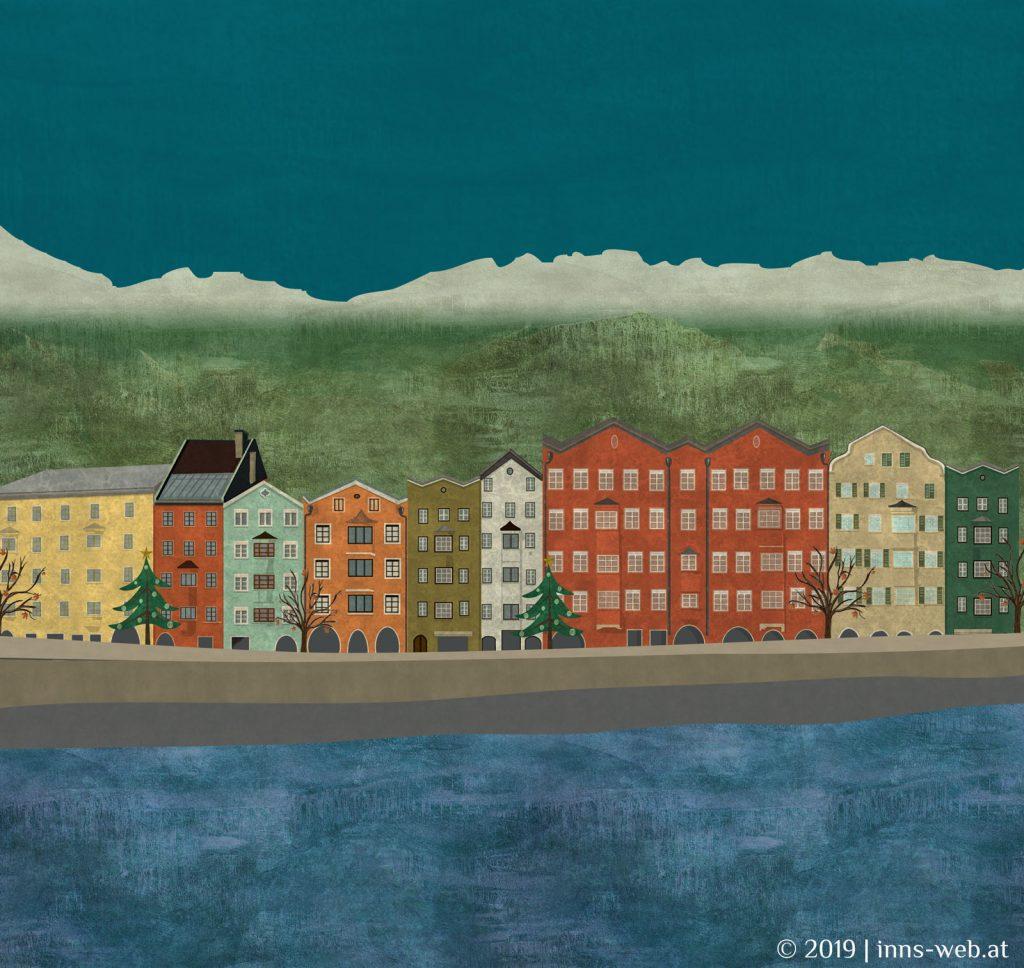 Innsbruck Mariahilf Illustration