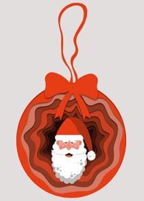 Weihnachtsmann Christbaumkugel