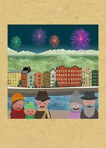Innsbruck Neujahrsanimation